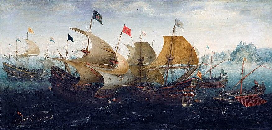 Aert Anthonisz. The battle of Cadix 1608