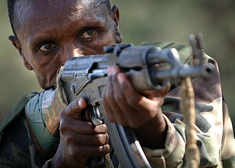 Ethiopian National Defense Force - Soldier of Ethiopian National Defense Force, 2006.