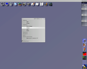 Screenshot of an AfterStep desktop.
