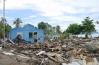 Emergency Architects Foundation - Destruction in Solomon Islands after tsunami (2004)