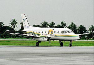 Air Fiji Flight 121 - An Air Fiji Embraer EMB 110 Bandeirante similar to the accident aircraft