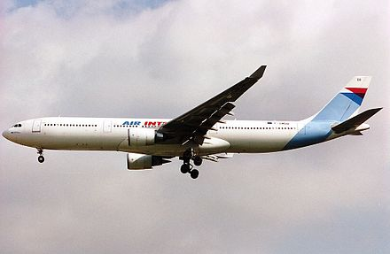Launch operator Air Inter introduced the A330-300 on 17 January 1994 Airbus A330-301, Air Inter AN0198153.jpg