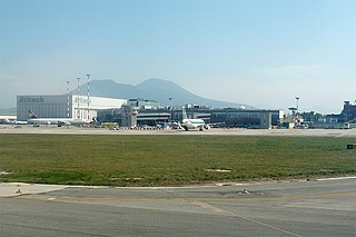 international airport serving Naples, Italy