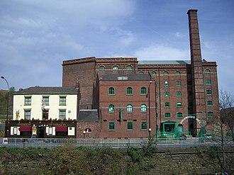 Neepsend - Aizlewood's Mill with the Harlequin pub next door.