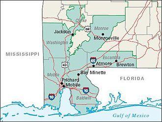 2004 United States presidential election in Alabama - Image: Alabama 1st