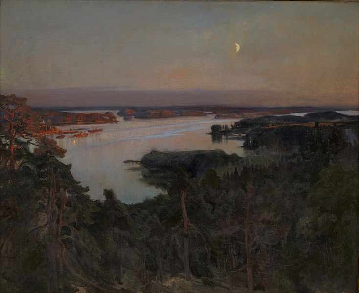 File:Albert Edelfelt - Summer Evening, Haiko Fiord - DEP698 - Statens Museum for Kunst.jpg