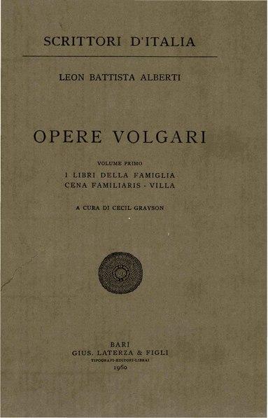 File:Alberti, Leon Battista – Opere volgari, Vol. I, 1960 – BEIC 1723036.pdf