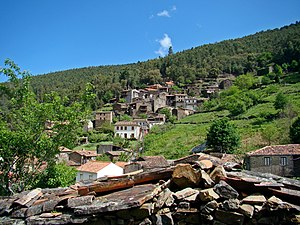 Lousã - One of the villages of the Serra with many built from schist stone