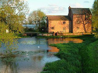 River Anker river in Warwickshire, United Kingdom