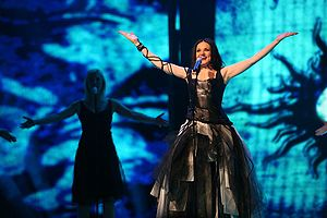 "Alenka Gotar - Alenka Gotar performing ""Cvet z juga"" for Slovenia, in the Eurovision Song Contest 2007."