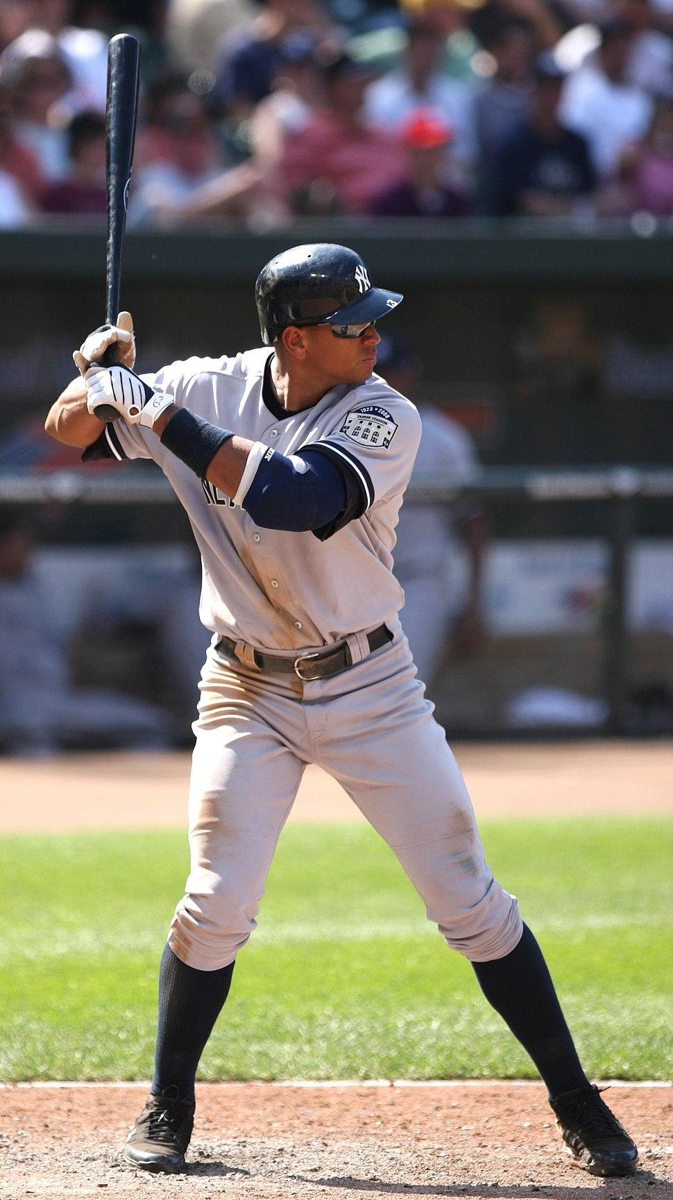 Alex Rodriguez batting stance 2008