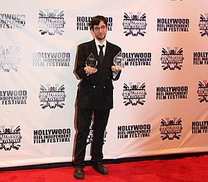 "Alexander Tuschinski - Alexander Tuschinski at Hollywood Reel Independent Film Festival 2015, receiving awards for ""Break-Up""."