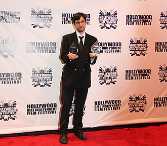 "Alexander Tuschinski - Alexander Tuschinski at Hollywood Reel Independent Film Festival 2015, receiving awards for ""Break-Up""."