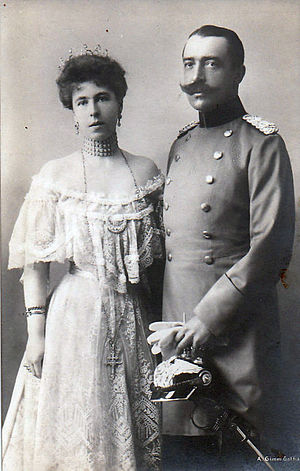 Princess Alexandra of Saxe-Coburg and Gotha - Princess Alexandra and her husband Ernst II, Prince of Hohenlohe-Langenburg.