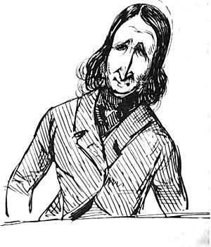 Alfred de Vigny - Sketch of Alfred de Vigny, by Prosper Mérimée.