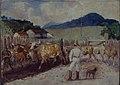 Alfredo Norfini - Descascamento de café a pata do boi, 1820, Acervo do Museu Paulista da USP.jpg