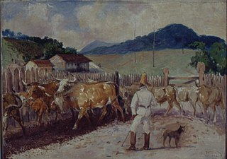 Descascamento de café a pata do boi, 1820