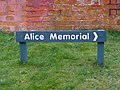 Alice Memorial sign - geograph.org.uk - 343755.jpg