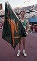 Alison Quinn holding the boxing kangaroo flag.jpg