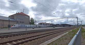 Lahti railway station - The Allegro high-speed train connects Lahti to Saint Petersburg.