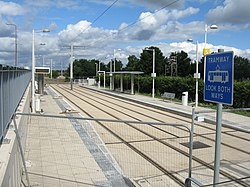 Almost finished - tram stop at The Gyle (geograph 3579349).jpg