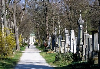Alter Südfriedhof - View through the cemetery, from the north.