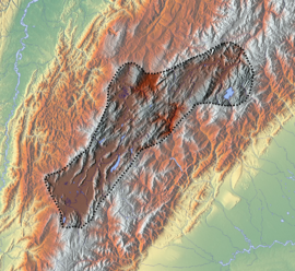 Paipa-Iza volcanic complex is located in the Altiplano Cundiboyacense
