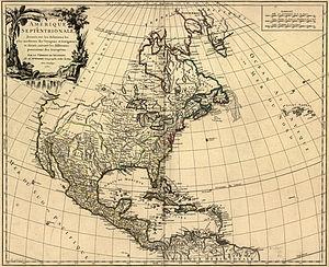 Robert de Vaugondy - Vaugondy map of North America, 1750