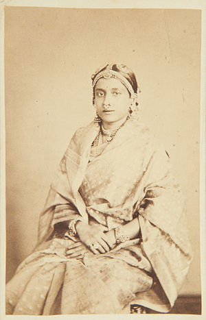 Ammachi Panapillai Amma - Ammachee, wife of His Highness the Maharaja of Travancore in 1868