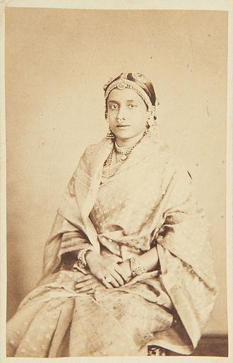 Ayilyam Thirunal - Ammachee, wife of His Highness the Maharaja of Travancore in 1868