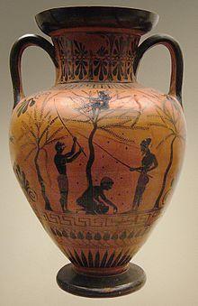 Cosecha de la oliva, Museo Británico