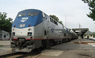 Silver Star (Amtrak train) - Northbound Silver Star at Southern Pines station in 2009