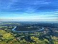 An aerial photo of the town of Prienai and river Nemunas from a hot-air balloon..jpg