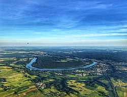 An aerial photo of the town of Prienai and river Nemunas from a hot-air balloon..jpg