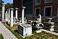 Ancient columns within the Istanbul Archaeology Museums' complex inner yard. Turkey.jpg