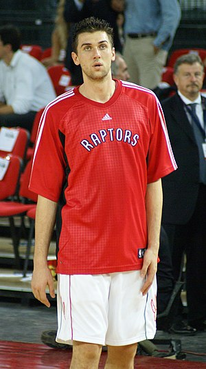 2006 NBA draft - Andrea Bargnani, the 1st pick of the Toronto Raptors