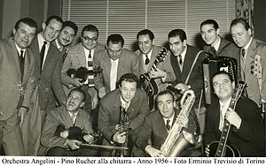 Pino Rucher - Pino Rucher at the guitar with the Angelini Orchestra