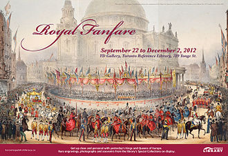 Toronto Reference Library - Poster announcing an event featuring items from European royalty at the Library.