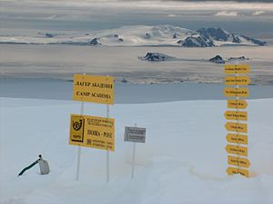 Antarctic postal services.