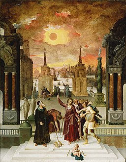 Antoine Caron, Dionysius the Areopagite Converting the Pagan Philosophers, 1570s, Wikimedia Commons