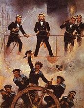 Anton Romako: Admiral Tegetthoff in the naval battle of Lissa