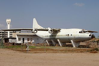 Massawa International Airport - A retired Antonov An-12BP near the Massawa airport's bus terminal.