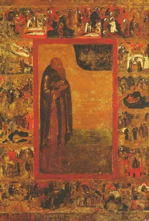 Anthony of Siya - 17th Century icon depicting St. Antony of Siya