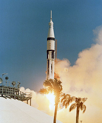 Apollo program - A Saturn IB rocket launches Apollo 7, 1968