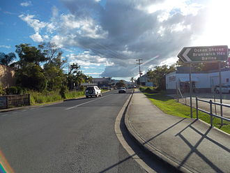 Billinudgel, New South Wales - Image: Approach to Billinudgel town centre 2014