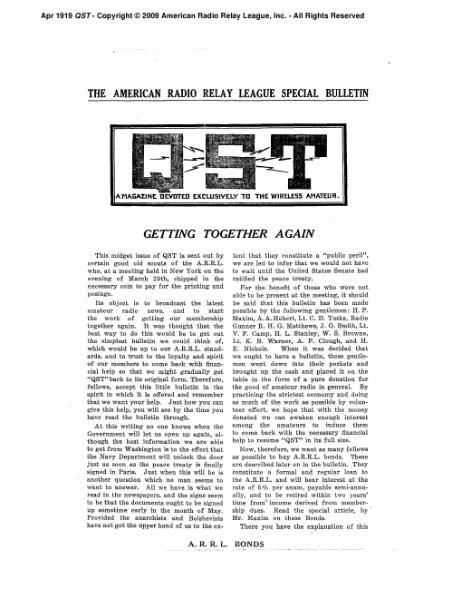 File:April 1919 QST.djvu