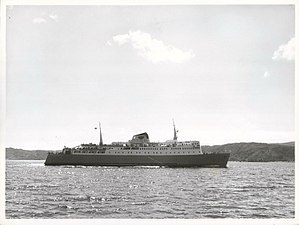 GMV Aramoana - Image: Aramoana leaves Wellington for Picton, 1965 (36433511405)