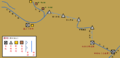 Arashiyama Mountain railway Route map.png