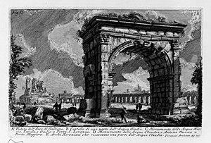 Arch of Gallienus - Arch of Gallienus - Piranesi