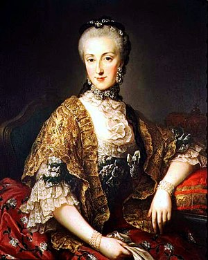 Archduchess Maria Anna of Austria (1738–1789) - Portrait by Martin van Meytens